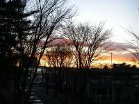 ムンクの絵画「叫び」を連想させる夕焼け