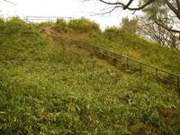 箱根山山頂への道