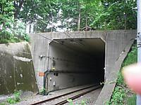 貨物線のトンネル(写っている指は撮影者のもの)