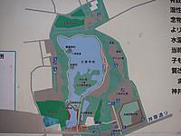 三宝寺池周辺図