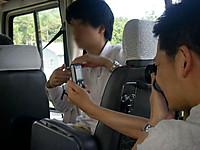 線量計の表示を写真撮影