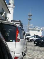 犬吠埼灯台下の激混み駐車場