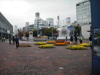 雨の上がった岡山駅前