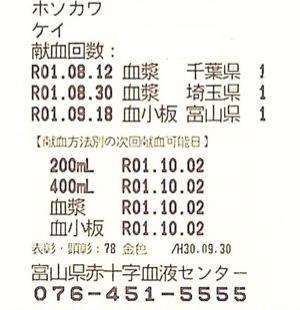 富山県:血小板